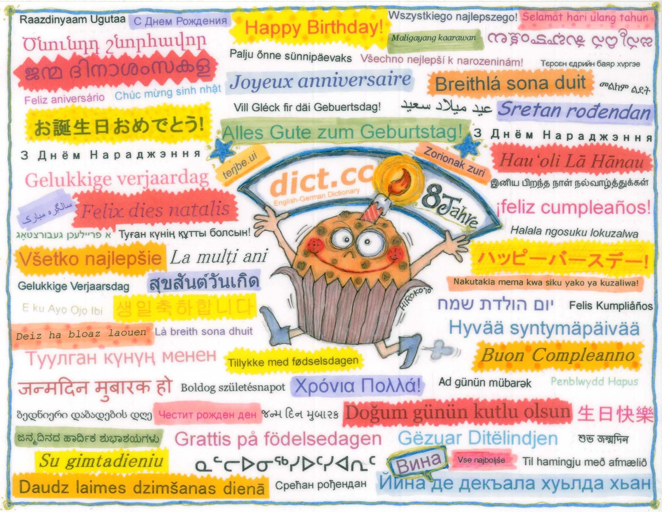 Hiroko Geburtstagskarte Jahre